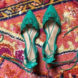ALDO Laser Cut Lace Up Sandals